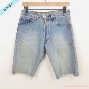 [Levi's] Vintage Light Wash 501 Cutoff Jean Shorts